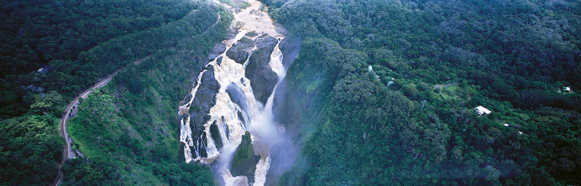 barron-falls-river-water-fall-rainforest-cairns-buy-limited-edition-photography-ric-steininger-gallery-Barron-Falls-Train
